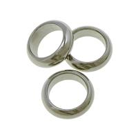 Roestvrij staal ring connectors, Donut, oorspronkelijke kleur, 9x9x3mm, Gat:Ca 6.5mm, 200pC's/Lot, Verkocht door Lot