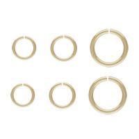 -Strzykawce Otwarte kółko, Pączek, 14K złoto wypełnione & różnej wielkości do wyboru, bez zawartości niklu, ołowiu i kadmu, sprzedane przez PC
