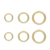 -Strzykawce Zamknięte kółko, Pączek, 14K złoto wypełnione & różnej wielkości do wyboru, bez zawartości niklu, ołowiu i kadmu, sprzedane przez PC