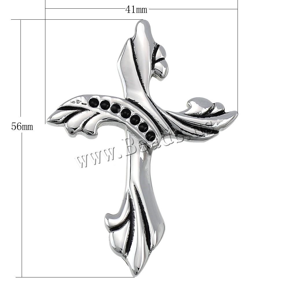 edelstahl kreuz anh nger 316 l edelstahl schw rzen 41x56x9mm mengenrabatt schmuck beads online. Black Bedroom Furniture Sets. Home Design Ideas