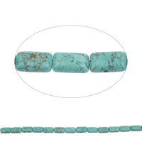 Clearance Turquoise Beads, Rectangle, 20x12x6mm, Hole:Approx 1mm, Approx 19PCs/Strand, Sold Per Approx 15 Inch Strand