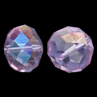 Imitation CRYSTALLIZED™ Element Crystal Beads, Rondelle, faceted, Lt Amethyst, 17x13.5mm, Hole:Approx 1.5mm, 10PCs/Bag, Sold By Bag