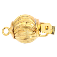 Zinc Alloy Box Clasp, Lantern, gold color plated, single-strand & corrugated, lead & cadmium free, 18x10mm, Hole:Approx 1.5mm, 10PCs/Bag, Sold By Bag
