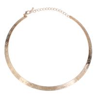 Ожерелья из металла, Железо, Кольцевая форма, KC Золотой цвет покрытием, не содержит свинец и кадмий, 145x125x1mm, Продан через Приблизительно 16 дюймовый Strand