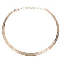 Ожерелья из металла, Железо, Кольцевая форма, KC Золотой цвет покрытием, не содержит свинец и кадмий, 140x125x1mm, Продан через Приблизительно 16 дюймовый Strand