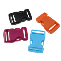Plastic Side Release Buckle, mixed colors, 51x32x11.50mm, Hole:Approx 25x2.5mm, 1000PCs/Lot, Sold By Lot