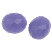 Jelly Style Acrylic Beads, Oval, faceted, purple, 16x13mm, Hole:Approx 1mm, 2Bags/Lot, Approx 290PCs/Bag, Sold By Lot