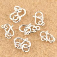 925 Sterling Silver Hook and Eye Clasp, different size for choice, Sold By Lot
