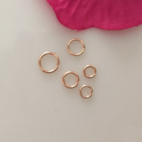 Gold Filled Machine Cut Closed Jump Ring, 14K rose gold-filled & different size for choice, nickel, lead & cadmium free, Hole:Approx 0.55mm, Sold By PC