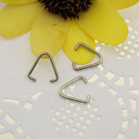Iron Pinch Bail, platinum color plated, 11.5x11x1mm, 1mm, 1000PCs/Lot, Sold By Lot