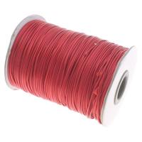 Шнуры из воска, Вощеная хлопок шнур, красный, 1mm, продается PC