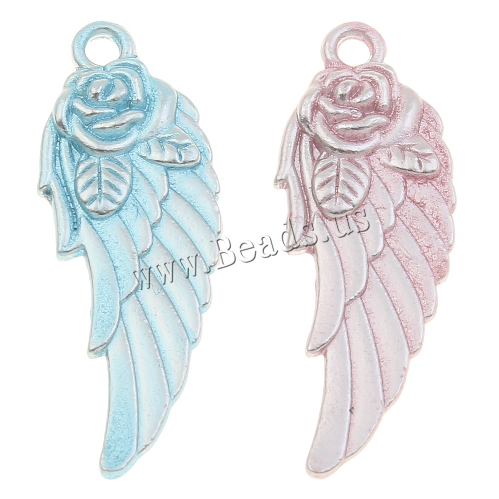 Buy Wing Shaped Zinc Alloy Pendants platinum color plated enamel colors choice lead & nickel free 12x32x4mm Hole:Approx 1.5mm 10PCs/Bag Sold Bag