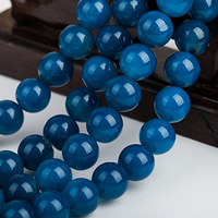 Natural Blue Agate Beads, Round, different size for choice, Grade AAAAAA, Hole:Approx 1mm, Sold Per Approx 15.5 Inch Strand