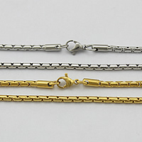 Stainless Steel Chain Necklace plated 2.50mm Length:Approx 21.5 Inch 10Strands/Lot