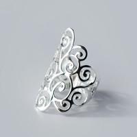 Кольца на весь палец, Серебро 925 пробы, регулируемый, 33mm, размер:8, 5ПК/Лот, продается Лот