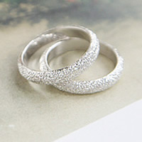 Zinc Alloy Finger Ring Donut silver color plated stardust lead   cadmium free 19x9mm US Ring Size:5