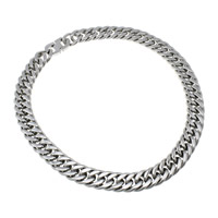 Stainless Steel Chain Necklace curb chain original color 19x26x4mm Length:Approx 23 Inch 3Strands/Lot