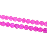 Crackle Glass Beads, Round, more colors for choice, 8mm, Hole:Approx 1mm, Approx 105PCs/Strand, Sold Per Approx 30 Inch Strand
