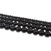 Perline in vetro alla moda, Cerchio, formato differente per scelta, nero, Foro:Appross. 1mm, Venduto da filo
