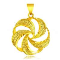 24 K Złoty Kolor Plated wisiorek, Mosiądz, Kwiat, pozłacane 24-karatowym złotem, kwiat cięty & próżniowe ochronny kolor & wybijane, 20x27mm, otwór:około 3x5mm, 10komputery/wiele, sprzedane przez wiele