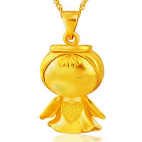24 K Gold Color Plated Pendant Brass Angel 24K gold plated vacuum protective color 19x25mm Hole:Approx 3x5mm 10PCs/Lot