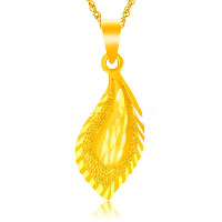 24 K Gold Color Plated Pendant Brass Leaf 24K gold plated flower cut   vacuum protective color 13x32mm Hole:Approx 3x5mm 10PCs/Lot