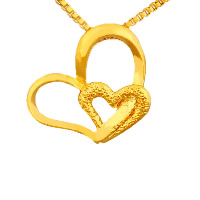 24 K Gold Color Plated Pendant Brass Heart 24K gold plated vacuum protective color   hammered 19x16mm Hole:Approx 2-3mm 10PCs/Lot