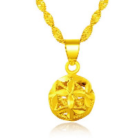 24 K Gold Color Plated Pendant Brass Round 24K gold plated vacuum protective color   hollow 11mm Hole:Approx 3x5mm 10PCs/Lot