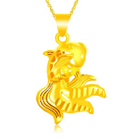 24 K Gold Color Plated Pendant Brass Goldfish 24K gold plated flower cut   vacuum protective color   hollow 21x32mm Hole:Approx 3x5mm 10PCs/Lot