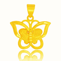 24 K Gold Color Plated Pendant Brass Butterfly 24K gold plated vacuum protective color 20x16mm Hole:Approx 3x5mm 10PCs/Lot