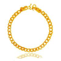 24 -каратного золота Цвет позолоченный браслет, Латунь, Дракон, Позолоченные 24k, вакуум защитные цвета, 7mm, длина:Приблизительно 8.7 дюймовый, 5пряди/Лот, продается Лот