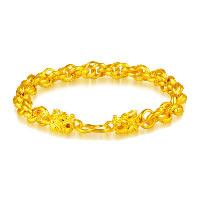 24 -каратного золота Цвет позолоченный браслет, Латунь, Дракон, Позолоченные 24k, вакуум защитные цвета & веревки цепи, 8mm, длина:Приблизительно 9 дюймовый, 3пряди/Лот, продается Лот