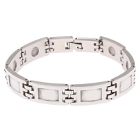 Stainless Steel Bracelet Setting, original color, 22x12x3mm, Inner Diameter:Approx 6mm, Sold Per Approx 8 Inch Strand