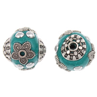 Indonesia Beads, Zinc Alloy, with Indonesia, Drum, antique silver color plated, lead & cadmium free, 14mm, Hole:Approx 1mm, Sold By PC