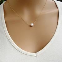 Ожерелья из металла, Железо, с ABS пластик жемчужина, с 5cm наполнитель цепи, Круглая, 18K золотым напылением, Овальный цепь, не содержит свинец и кадмий, 38cm, длина:Приблизительно 15 дюймовый, 3пряди/сумка, продается сумка