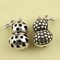 Hollow Brass Pendants, Calabash, antique silver color plated, lead & cadmium free, 10.2x16.2mm, Hole:Approx 3.5mm, Sold By PC