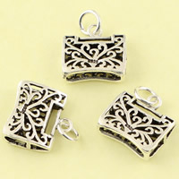 Hollow Brass Pendants, Lock, antique silver color plated, lead & cadmium free, 14.60x18.70x4.90mm, Hole:Approx 3.5mm, Sold By PC