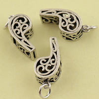 Hollow Brass Pendants, Whistle, antique silver color plated, lead & cadmium free, 9.30x24.50x7.30mm, Hole:Approx 3.5mm, Sold By PC