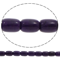 Dyed Jade Beads, Column, purple, 13x18mm, Hole:Approx 1mm, Length:Approx 15.5 Inch, 10Strands/Bag, Approx 22PCs/Strand, Sold By Bag