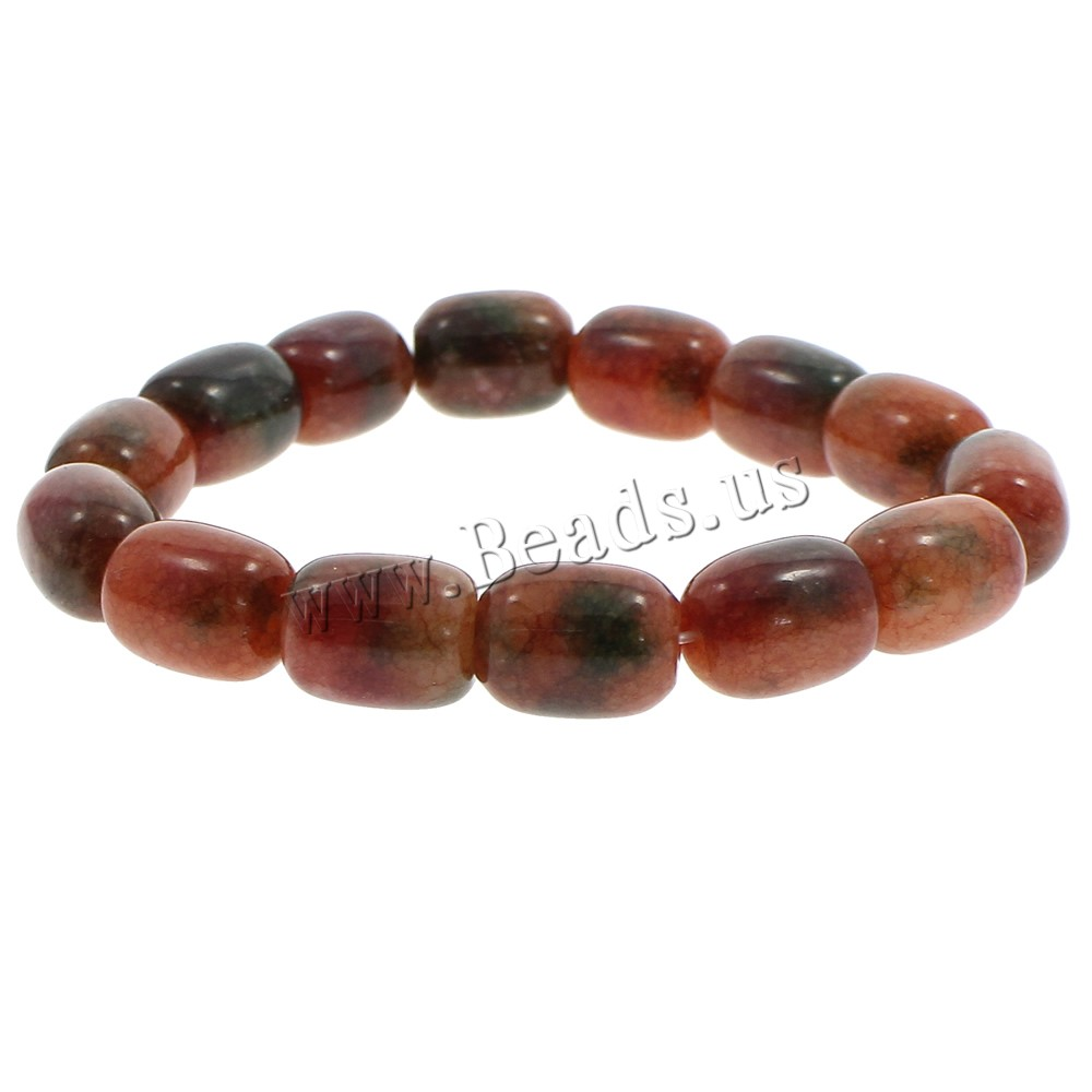 Buy Dyed Jade Bracelet Column crackle red coffee color 11x4mm Length:Approx 7.5 Inch 10Strands/Bag Sold Bag