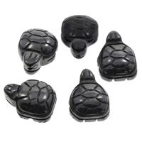 Black Stone Kraal, Zeeschildpad, 16x20x9mm, Gat:Ca 1mm, 50pC's/Bag, Verkocht door Bag