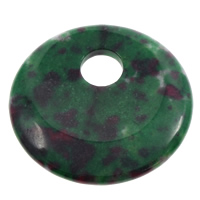 Dyed Jade Pendant, Donut, green, 44x6mm, Hole:Approx 10mm, 50PCs/Bag, Sold By Bag