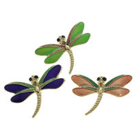 Cloisonne Pendants, Dragonfly, handmade, more colors for choice, 31x21x3mm, Hole:Approx 3x6mm, 10PCs/Bag, Sold By Bag