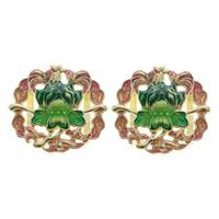 Cloisonne Pendants, Flower, handmade, 28x26x4mm, Hole:Approx 5mm, 10PCs/Bag, Sold By Bag