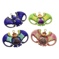 Cloisonne Pendants, Bat, handmade, more colors for choice, 49x36x5mm, Hole:Approx 2mm, 10PCs/Bag, Sold By Bag