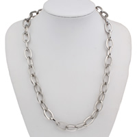 Stainless Steel Chain Necklace oval chain original color 12x18x2mm Sold Per Approx 21 Inch Strand