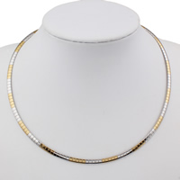 Stainless Steel Chain Necklace plated 4x1mm Sold Per Approx 18 Inch Strand