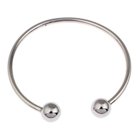 Stainless Steel Cuff Bangle, original color, 62x59x10mm, Inner Diameter:Approx 56mm, Length:Approx 7 Inch, Sold By PC