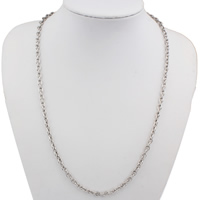 Stainless Steel Chain Necklace oval chain original color 4x6x1mm Sold Per Approx 21 Inch Strand
