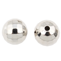 Copper Coated Plastic Beads, Round, platinum color plated, lead & cadmium free, 12mm, Hole:Approx 1.5mm, 100PCs/Bag, Sold By Bag
